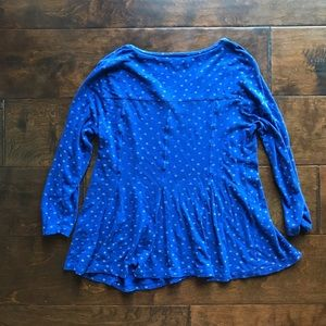 Lucky Brand Tops - 🍀Lucky Brand Blue Thermal Relaxed Tee S